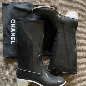 Authentic Chanel Rainboots